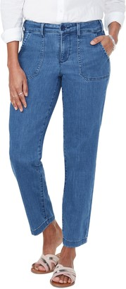 NYDJ Ankle Straight Leg Denim Chino Pants