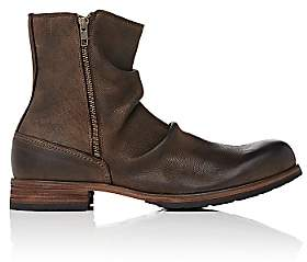 Shoto Men's Wrinkled Double-Zip Boots - Brown