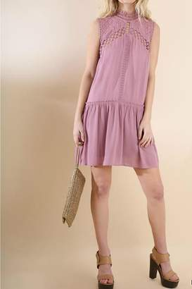 Umgee USA Sleeveless Crochet Dress
