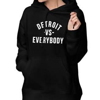 Victoria's Secret CHEN HOODIE Detroit Everybody Women's Hoodie Sweatshirt, Pullover Hoodie Sweatshirt Cotton Hooded