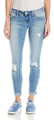 YMI Jeanswear Women's Wannabettabutt Anklet with Raw Edge Roll uff