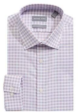 MICHAEL Michael Kors Slim-Fit Checkered Cotton Dress Shirt