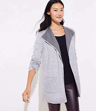 LOFT Lapel Open Cardigan