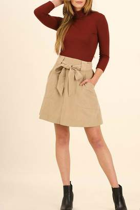 Umgee USA Ribbon-Tie A-Line Skirt