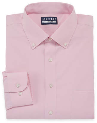 STAFFORD Stafford Stafford Poly Span Big And Tall Long Sleeve Woven Dress Shirt