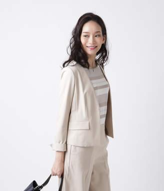 NEWYORKER women's TRストレッチツイル Vカラージャケット
