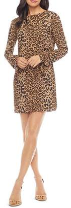Dress the Population Dahlia Leopard-Print Shift Dress