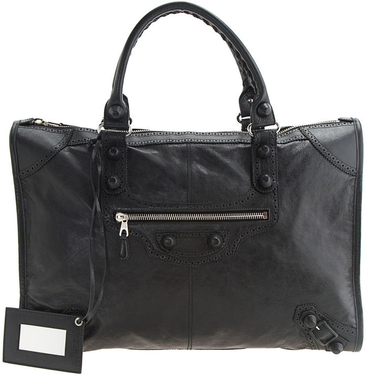 Balenciaga Arena Giant Covered Weekender - Black