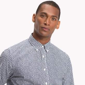 Tommy Hilfiger Cotton Poplin Houndstooth Shirt