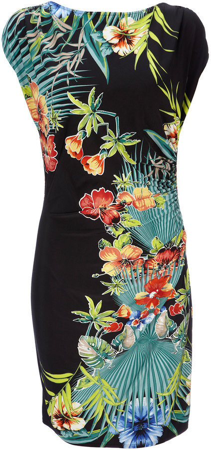 Tropical Leaf Print Dress