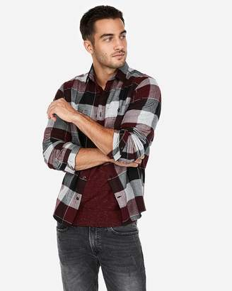 Express Plaid Print Flannel Shirt