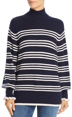 Rebecca Taylor Striped Merino-Wool Sweater