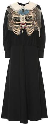 Gucci Embellished silk and wool dress