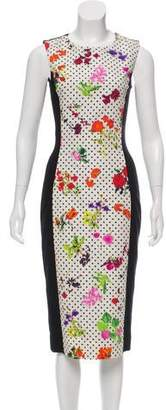 Oscar de la Renta Sleeveless Midi Dress