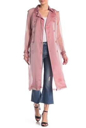 L'Atiste Sheer Trench Coat