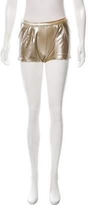 Tomas Maier Metallic Mini Shorts w/ Tags