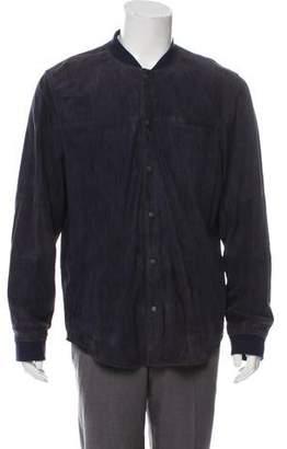 Vince Suede Shirt Jacket