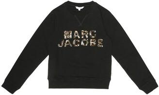 Little Marc Jacobs Embellished cotton-jersey sweatshirt