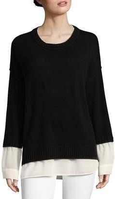 Brochu Walker Women's Looker Layered Crewneck Sweater
