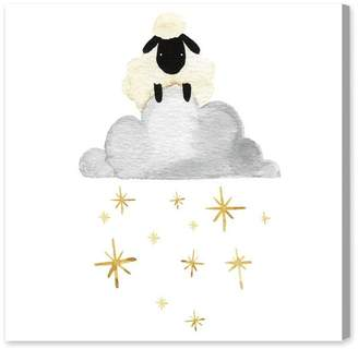 Oliver Gal Sheep Cloud and Stars Canvas Art