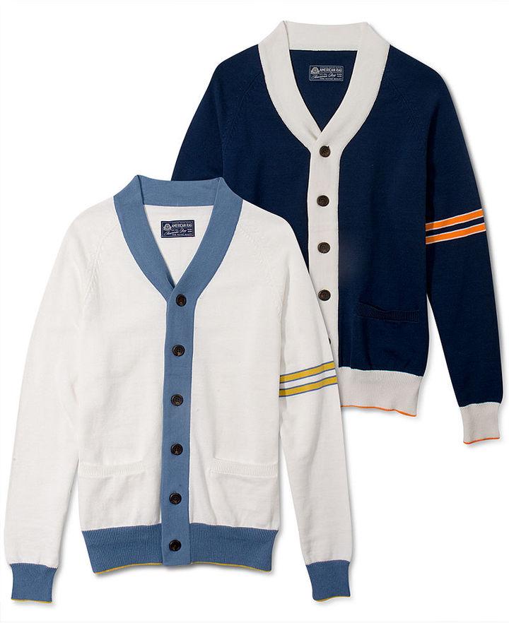 American Rag Sweater, Color Block Cardigan