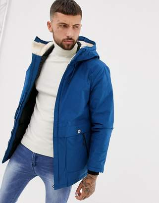 Pull&Bear padded jacket in blue