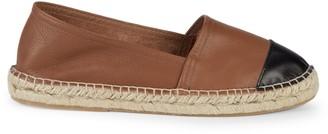 Saks Fifth Avenue Cap Toe Leather Espadrille Slip-Ons