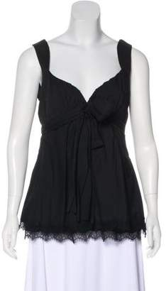 Robert Rodriguez Lace-Trimmed Sleeveless Top