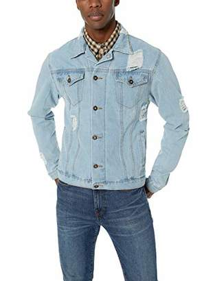 Brooklyn Surf Men's Distressed Jean Classic Trucker Jacket