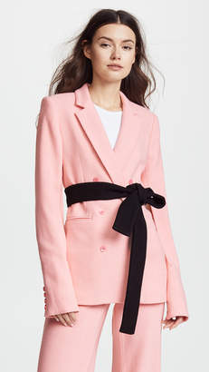 Hellessy Willow Belted Blazer with Sleeve Slits