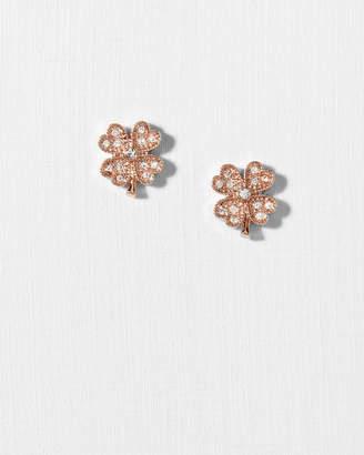 Ted Baker HIILA Crystal clover earrings