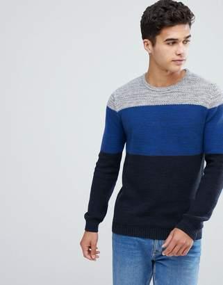 Esprit Wide Stripe Sweater in Blue