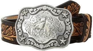 M&F Western Floral Embossed Horsehead Buckle Belt Men's Belts