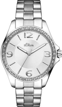 S'Oliver Women's Quartz Watch with Dial Analogue Display Quartz (One Size, Silver)