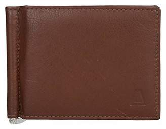 Leather Architect Men's 100% Leather RFID Blocking Bifold Saffiano Wallet with Money Clip ()