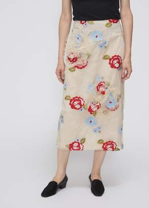 Simone Rocha Ruched Flower Skirt