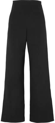 SOLACE London Dafina Bonded Wide-leg Pants - Black