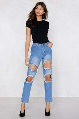 Nasty Gal That Doesn't Wash With Us Mom Jeans