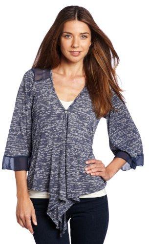 Testament Women's 3/4 Sleeve Button Up Top