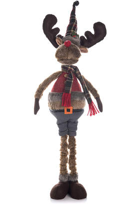 Transpac Traditions Plush Telescoping Rustic Moose
