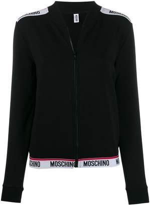Moschino logo trim track jacket