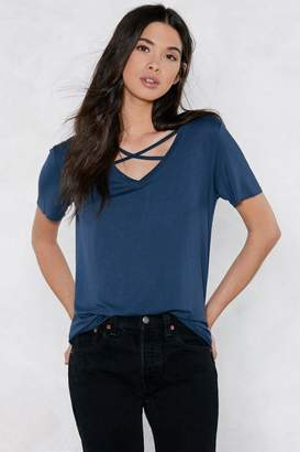Nasty Gal Let's Cross Paths Strappy Tee