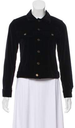 Saint Laurent Embellished Velvet Jacket