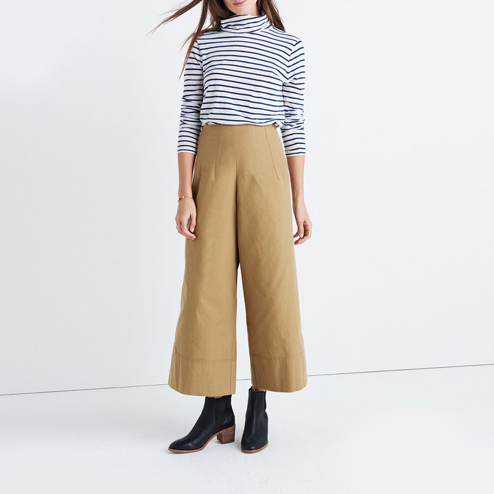 Caron CallahanTM Khaki High-Rise Wide-Leg Pants