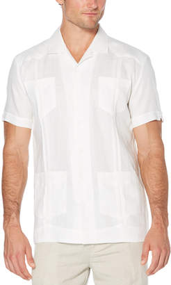 Cubavera Slim Fit 100% Linen Short Sleeve 4 Pocket Guayabera
