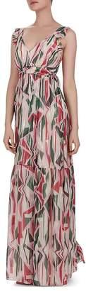 BA&SH Betty Geometric Print Maxi Dress