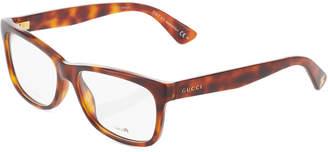 Gucci Cat-Eye Tortoiseshell Acetate Optical Glasses
