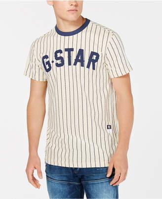 G Star Men's Wabash Dot-Stripe Logo Graphic Baseball T-Shirt, Created for Macy's