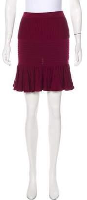 Jonathan Simkhai Rib Knit Ruffle Skirt