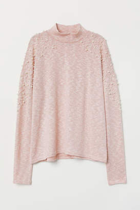 H&M Beaded Sweater - Orange